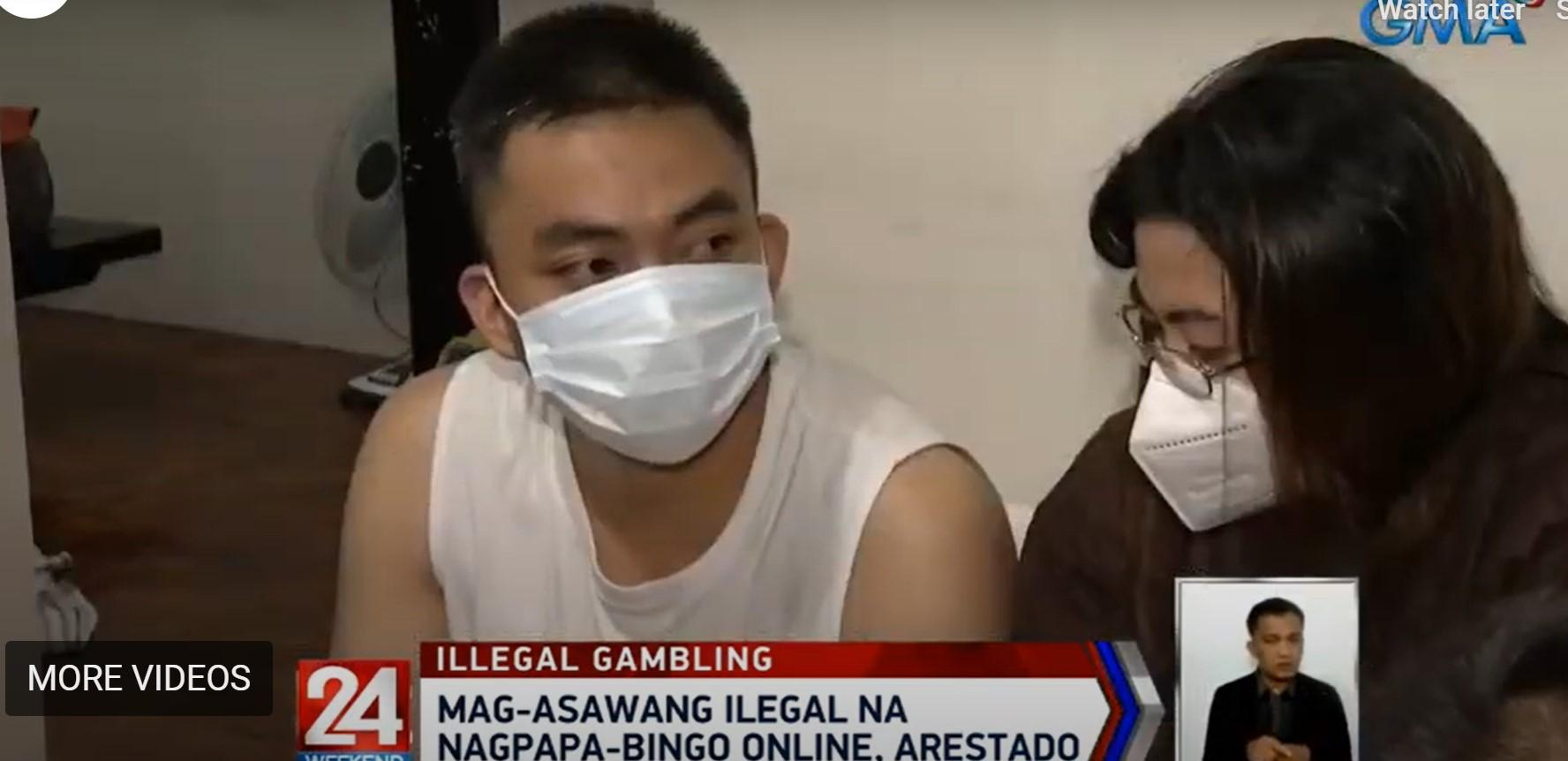Couple in QC nabbed for keeping unlawful online bingo