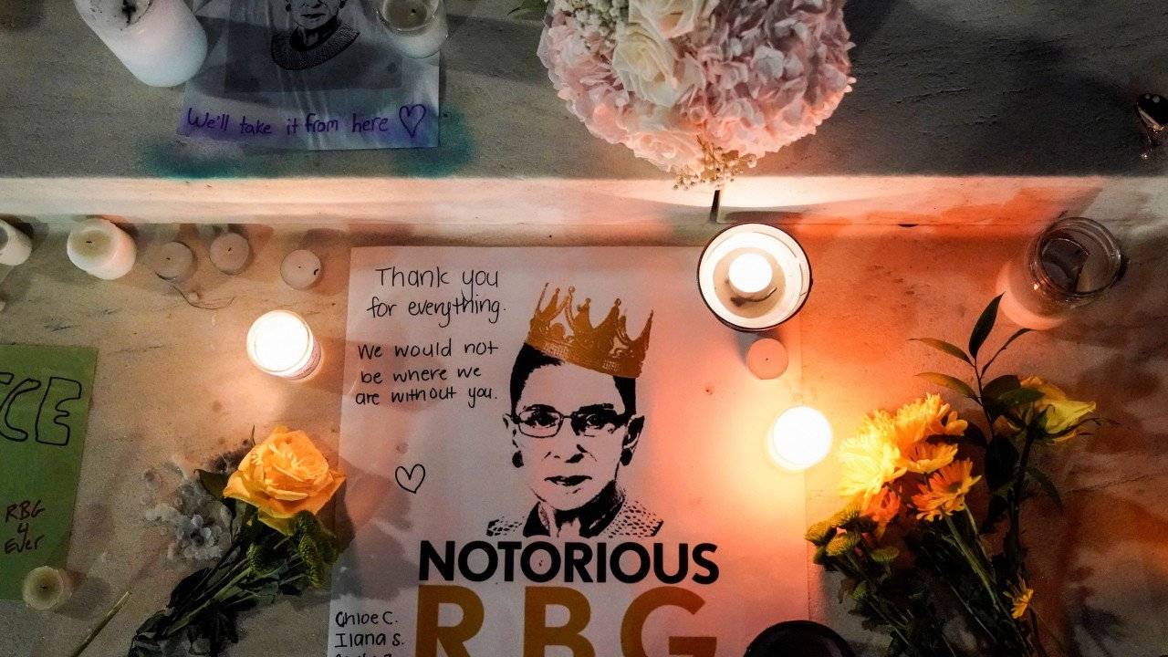 Chinese language feminists and merely students pay tribute to 'inspirational' US Justice Ruth Bader Ginsburg