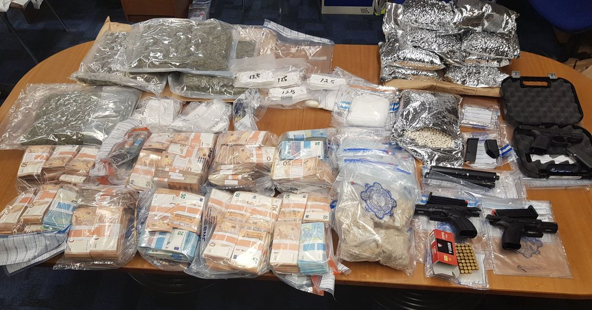 Big seizure uncovers practically €1.5m rate of unlawful medicine, cash and guns