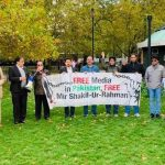 Protestors at UK's Speaker's Corner pronounce in opposition to MSR's illegal detention