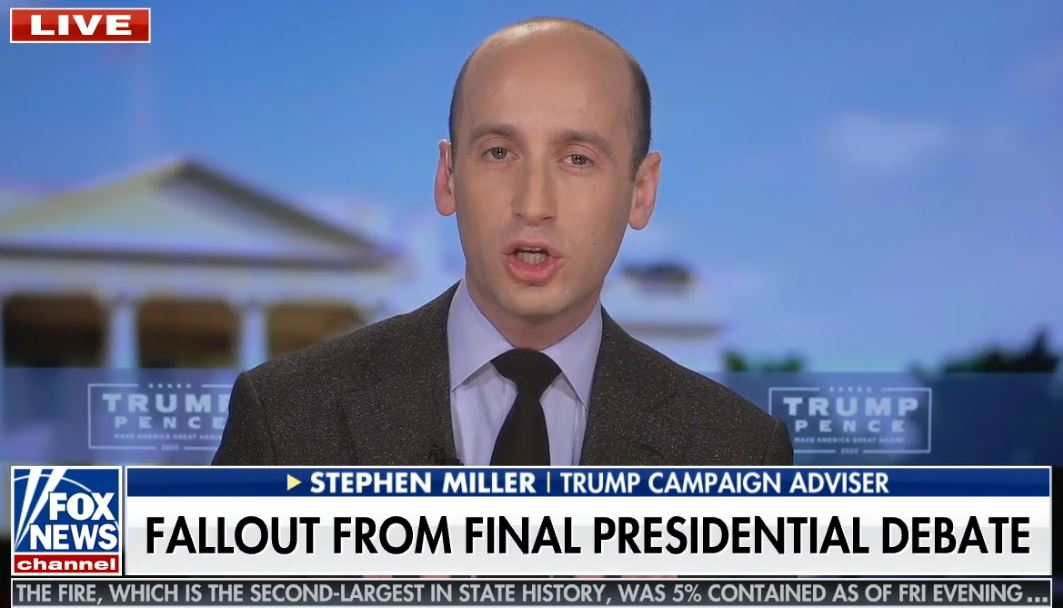 Trump Adviser Stephen Miller Says 'Millions of Illegal Immigrants' Will 'Bankrupt Medicare' Under Biden Notion