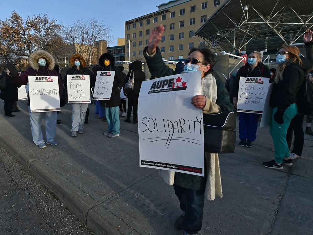 AHS workers' wildcat strike declared unlawful by Alberta Labour Household Board