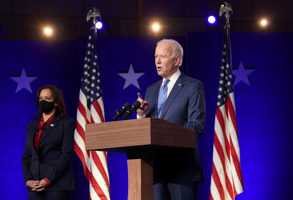 Biden urges supporters to wait and see as he inches closer to U.S. election steal, Trump persists with neatly suited threats