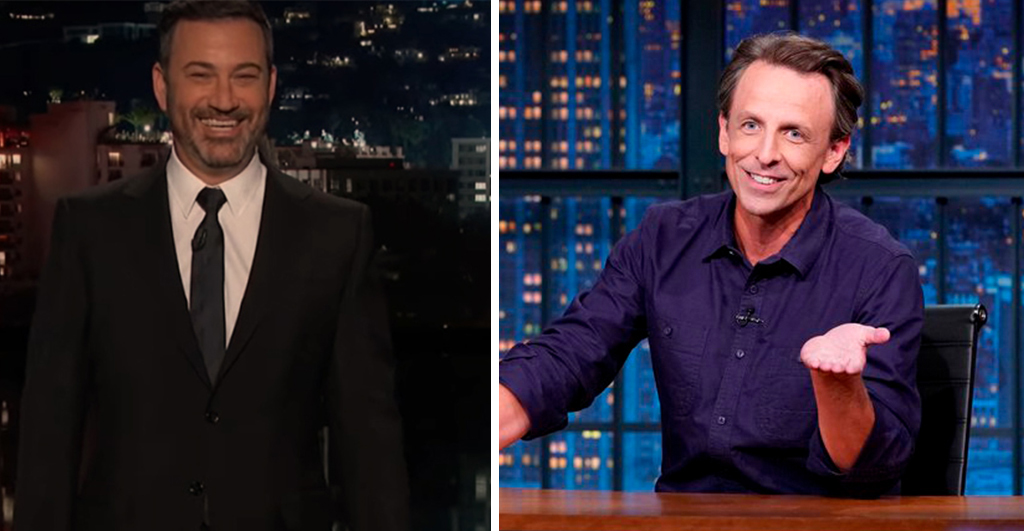 Jimmy Kimmel, Seth Meyers Diss Trump's Appropriate Crew As President Mute Refuses To Concede