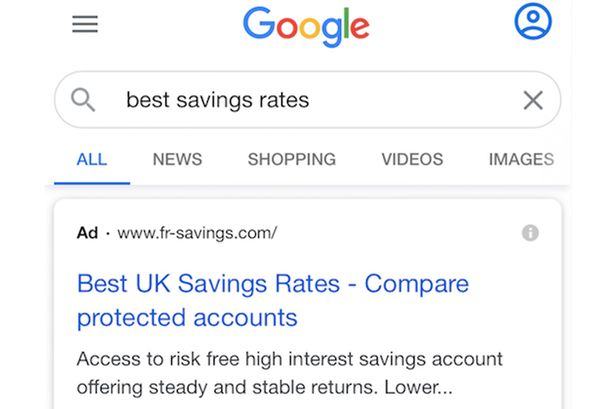 Bank impersonation scam used to be set apart to prime of savings search results by Google Ads