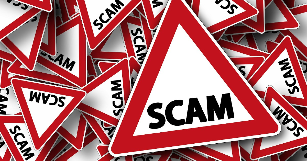 Hold up the mobile phone to preserve some distance flung from scammers