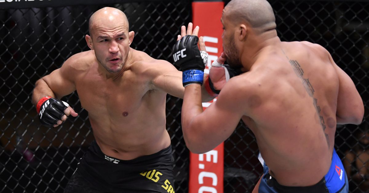 Junior dos Santos vents on Ciryl Gane loss, received't settle for result as a result of'illegal' elbow