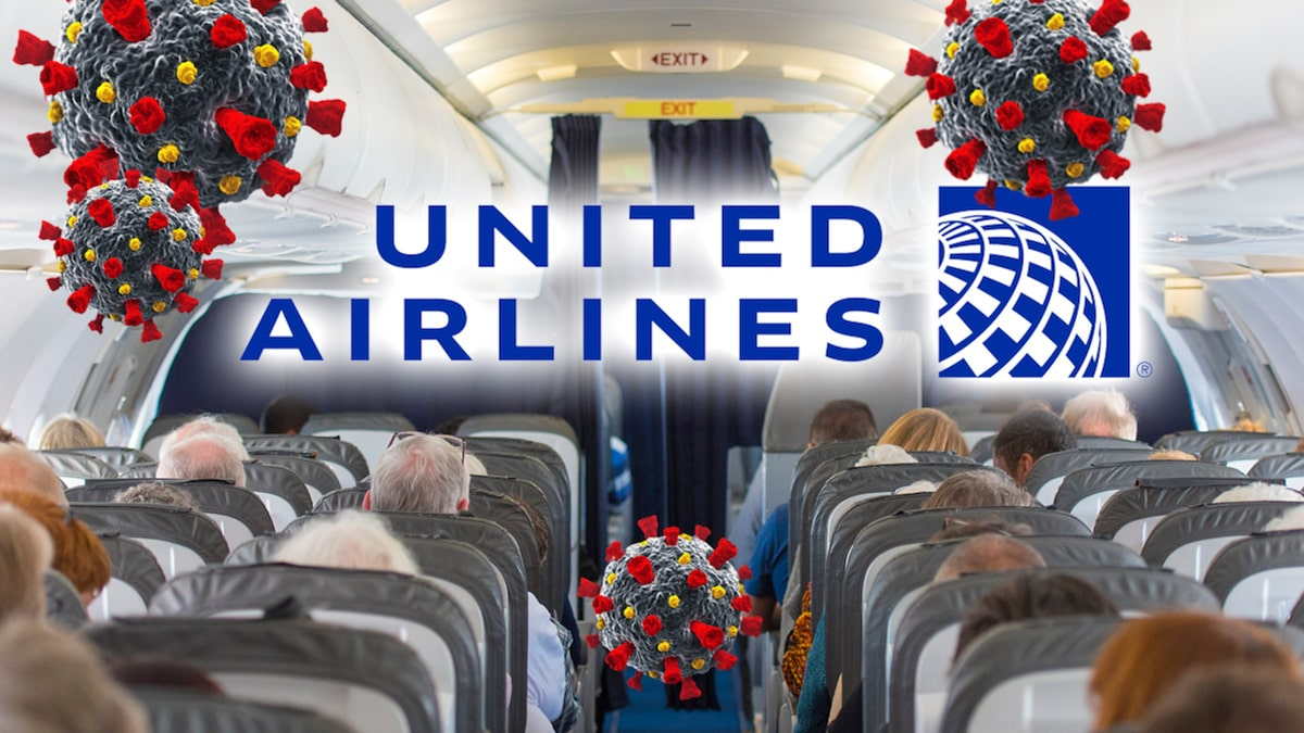 United Passengers Experiencing COVID Symptoms Ponder Appropriate Action