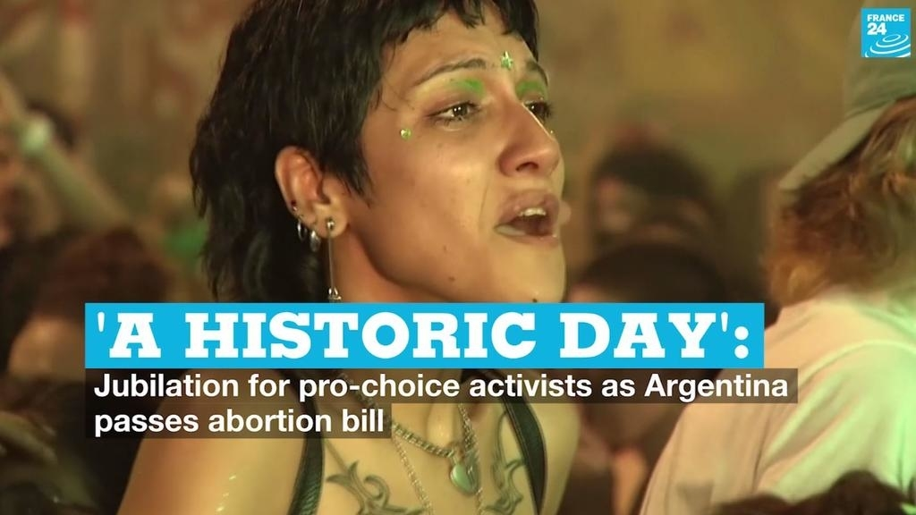 'A historical day': Jubilation for professional-option activists as Argentina passes abortion bill
