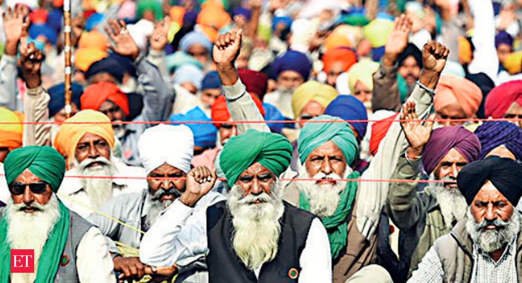Farmers agitation enters thirty seventh day on first day of most modern decade