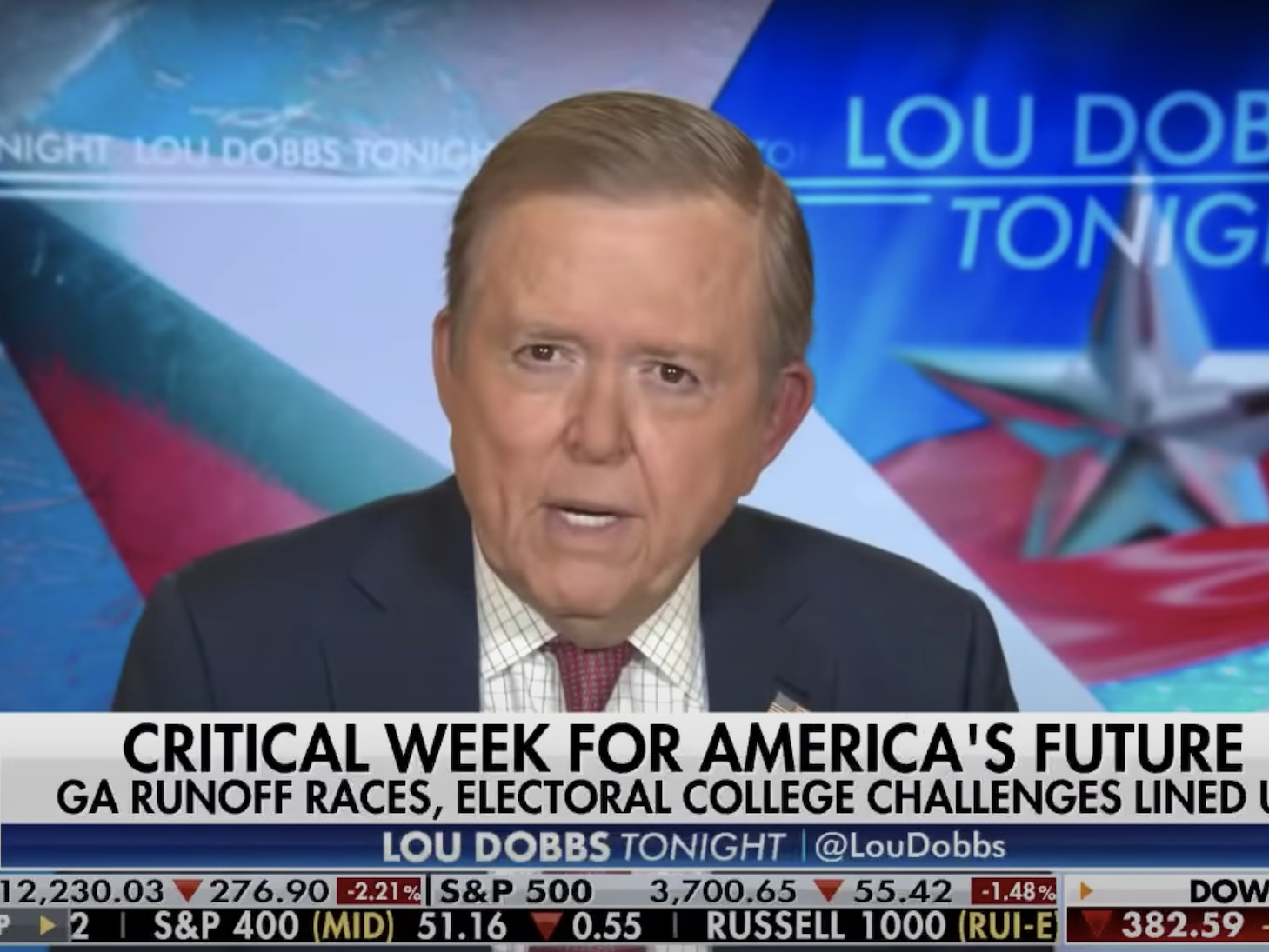 Fox host Lou Dobbs complained that he can't fetch 'precise proof' of voter fraud, but saved pushing the discredited principle anyway
