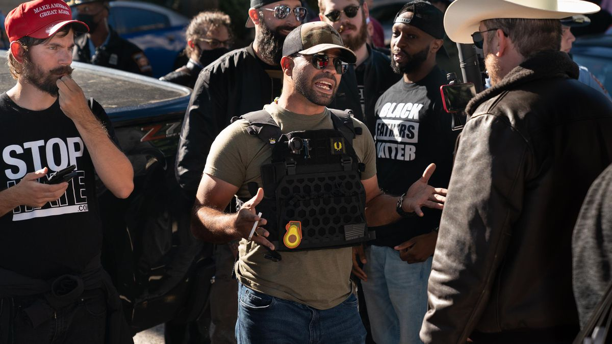 Proud Boys Leader Enrique Tarrio Arrested For Allegedly Burning Church's Gloomy Lives Subject Flag