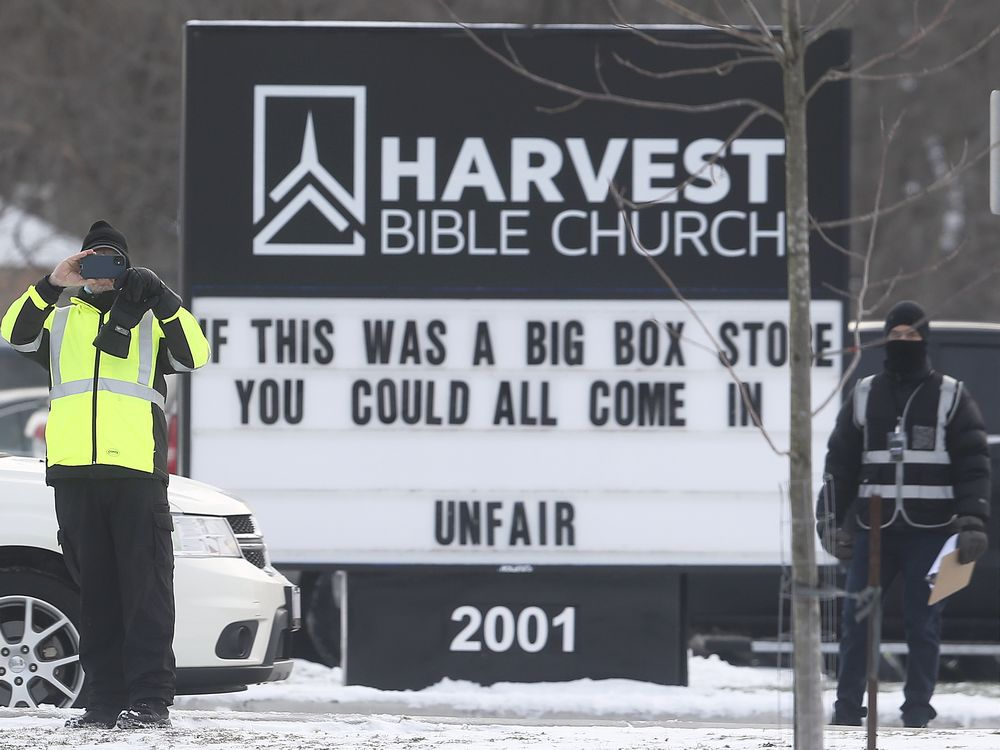 Local church leaders charged beneath Reopening Ontario Act catch just relief
