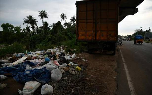 Illegal damage dumping on the upward thrust in Kalamassery