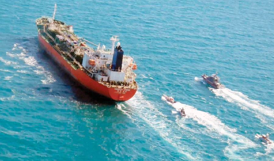 Iran tells SKorea its seized vessel a topic for the courts