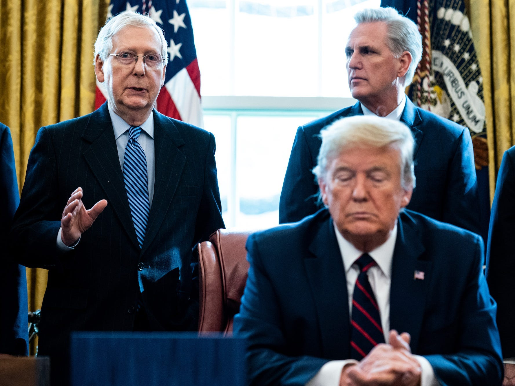 Republican sources say McConnell is occupied with a vote to convict Trump and expel him from the US executive forever