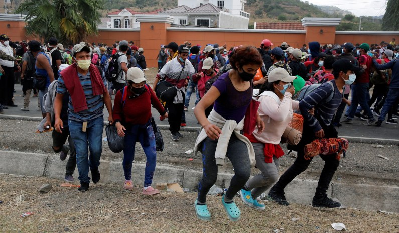 Honduran Migrant Traveling to U.S. Claims Biden Is 'Going to Abet All of Us'