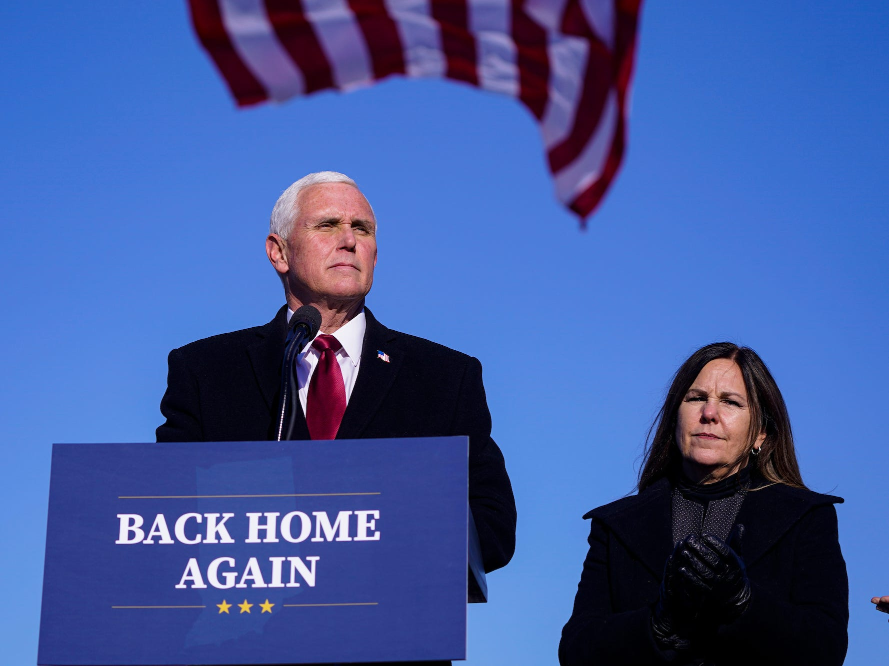 Mike and Karen Pence are homeless and appear to be couch surfing their contrivance by Indiana