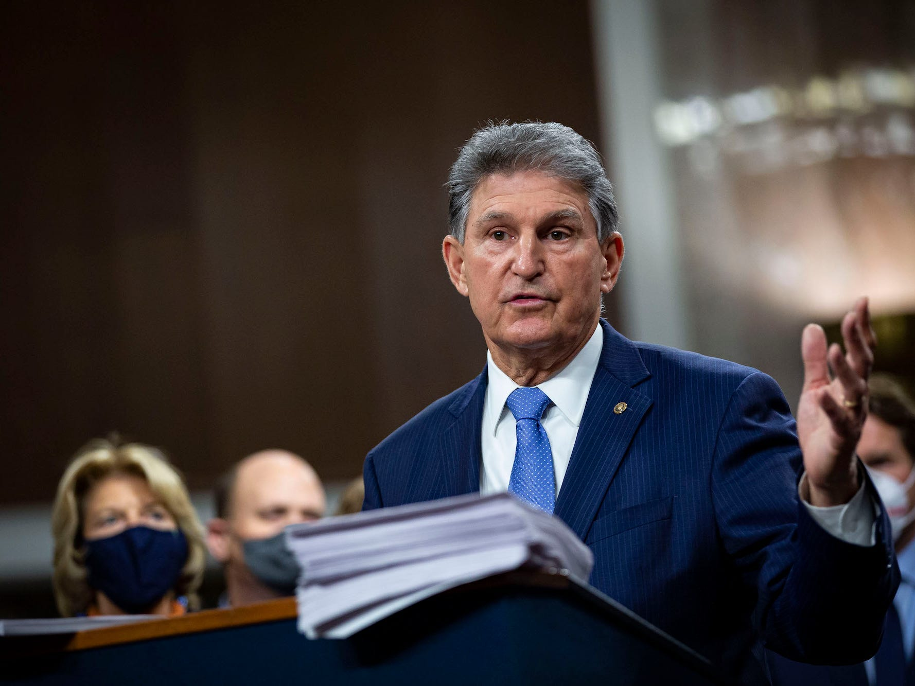 Joe Manchin poses a risk to elevating the minimal wage, even though 250,000 West Virginians would take advantage of the amplify