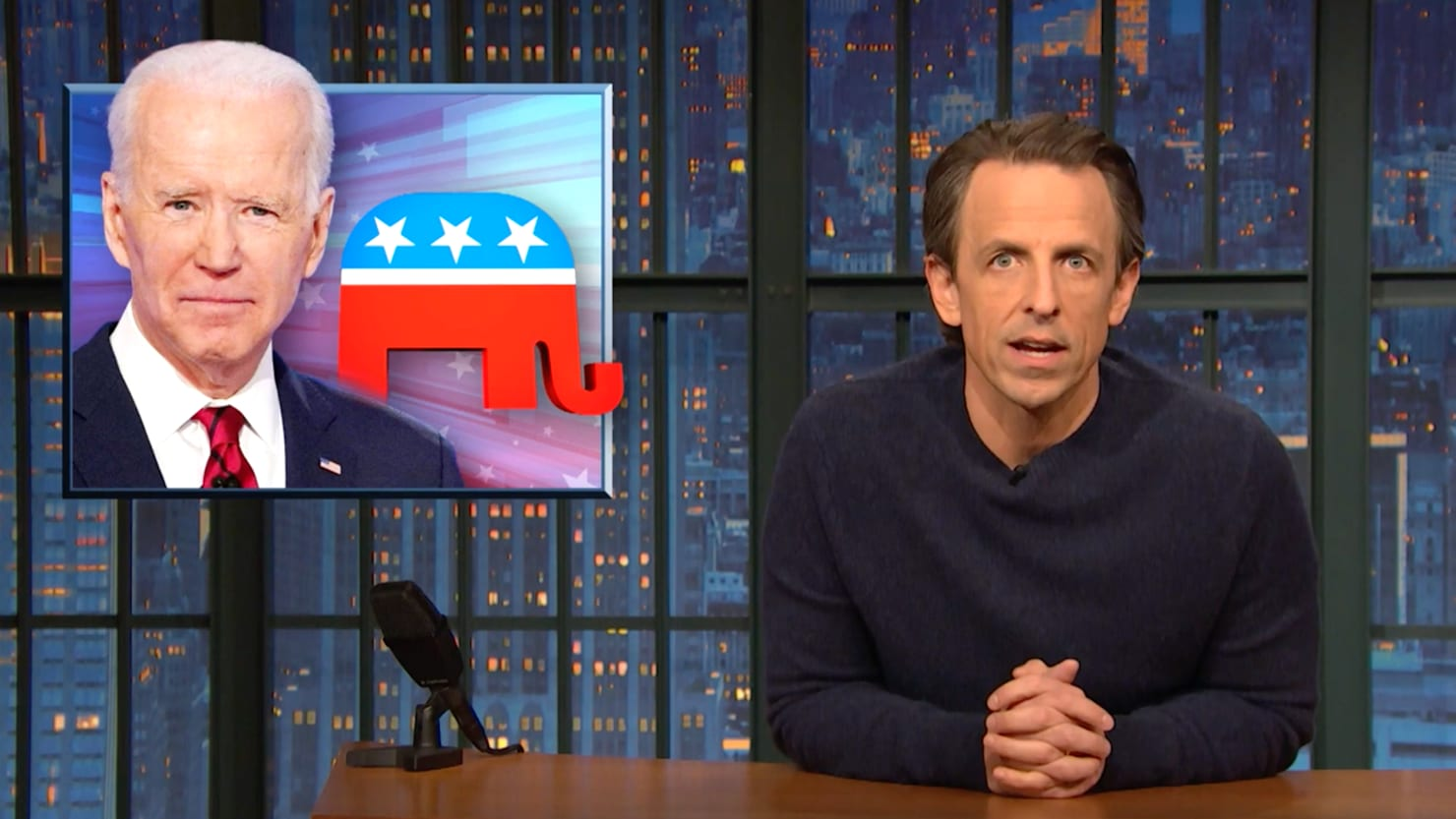 Seth Meyers Accuses Biden of Falling for GOP's Coronavirus 'Scam'