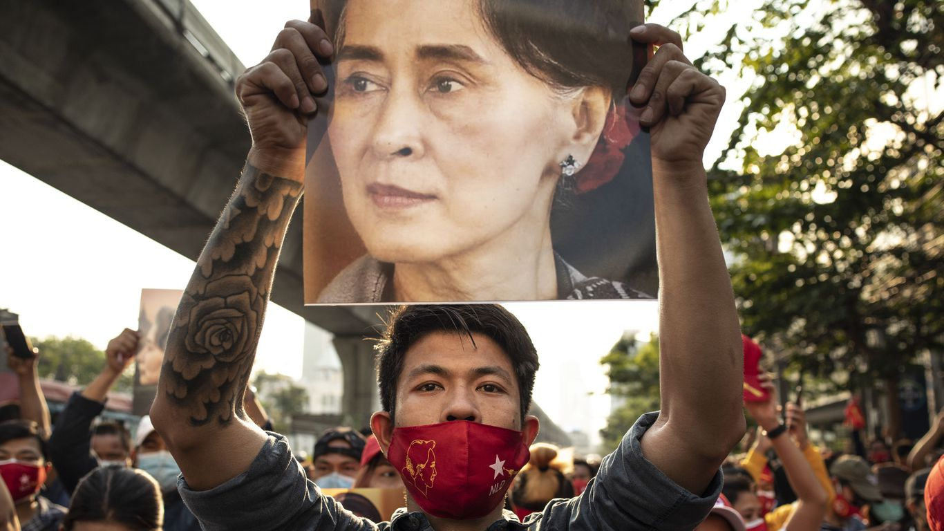 Aung San Suu Kyi charged after Myanmar coup