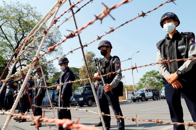 Police in Myanmar crack down on crowds defying whine ban