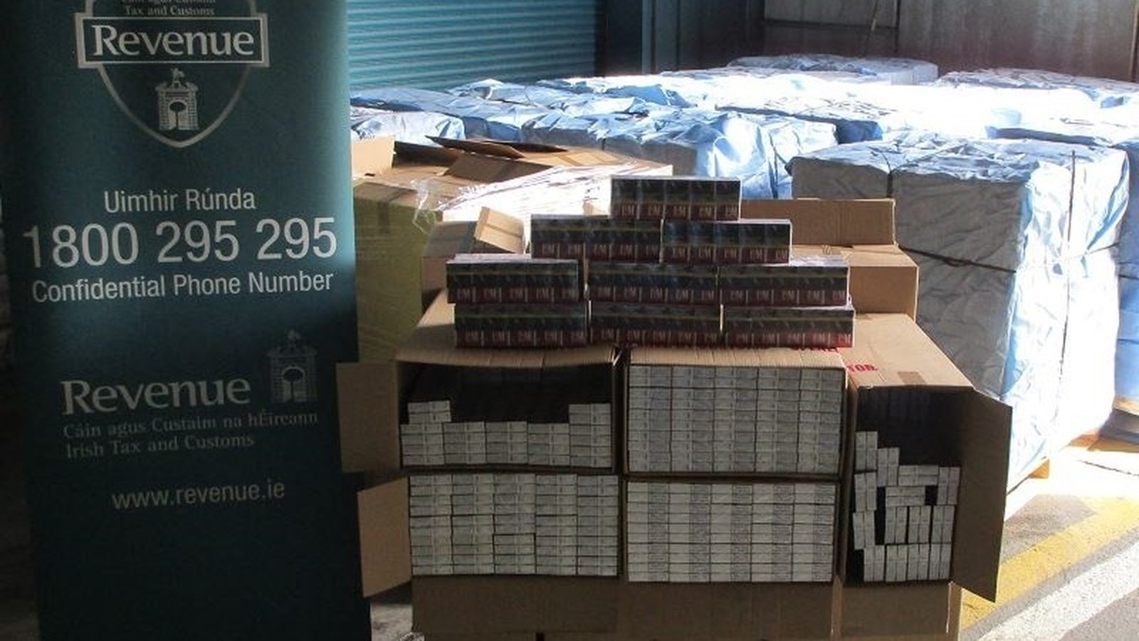 €2 million price of cigarettes seized at Rosslare port