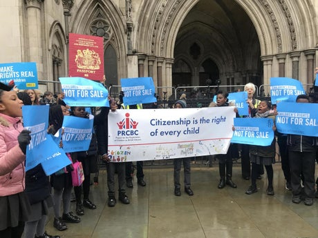 £1,000 costs for child citizenship are unlawful, appeals court principles