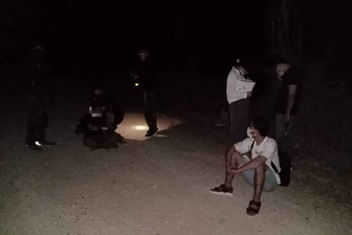Chinese caught sneaking across border on mountain path