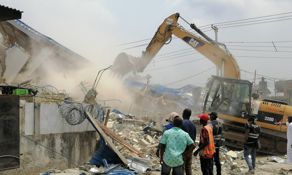 Lagos continues with demolition of unlawful constructions in the enlighten